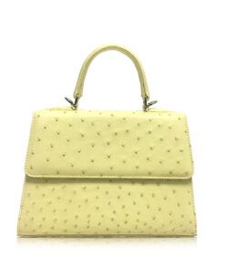 Goldmas Ostrich Leather, Lemon, Size 25