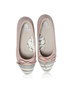 Python & Lamb Leather Ballerina, Pink