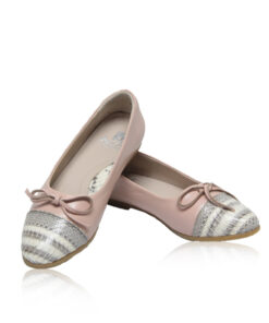 Python & Lamb Leather Ballerina, Pink