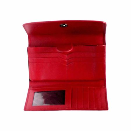 Stingray Leather Purse, Red & Black