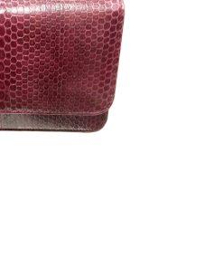 Barzaar Burgundy Sea Snake Clutch Bag