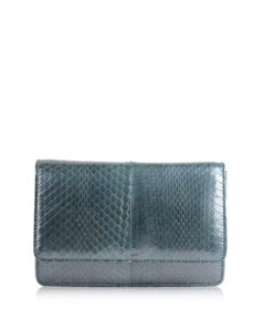 Barzaar Grey Sea Snake Clutch Bag