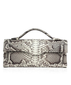 FURI Python Skin Clutch Bag, Natural, 30 cm