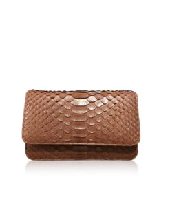 Python Leather Sling Bag BARZAAR, Brown