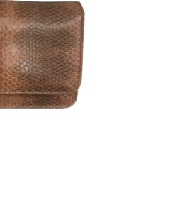 Sea Snake Leather Sling Bag BARZAAR, Brown & Black