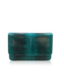 Sea Snake Leather Sling Bag BARZAAR, Green & Black