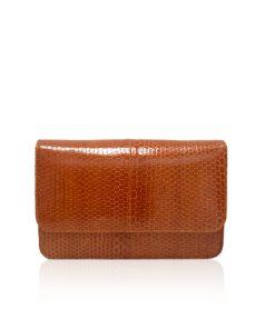 Sea Snake Leather Sling Bag BARZAAR, Tan