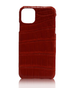 Crocodile Skin iPhone 11 Case, Matte Burgundy