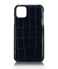 Crocodile Skin iPhone 11 Case, Matte Black