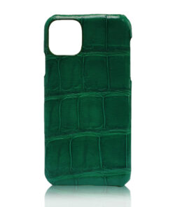 Crocodile Skin iPhone 11 Case, Matte Green