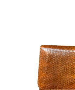 Barzaar Tan & Black Sea Snake Clutch Bag