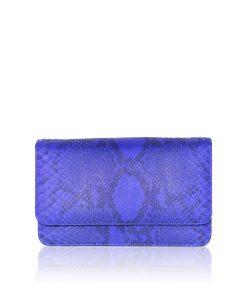 Barzaar Royal Blue & Black Python Clutch Bag