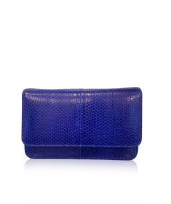 Barzaar Royal Blue Sea Snake Clutch Bag