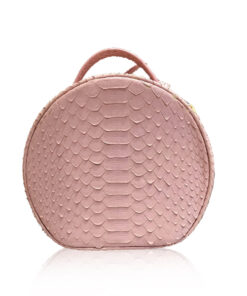 COIN Sling Bag, Python Leather, Size 20 , Light Pink