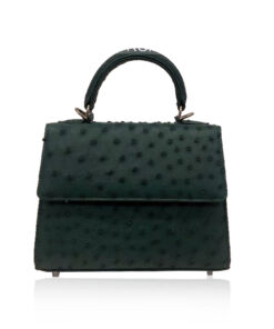 GOLDMAS Ostrich Leather, Dark Green, Size 19
