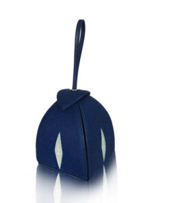 MARIA Stingray Glitter Clutch Bag, Navy Blue
