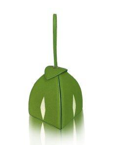 MARIA Stingray Glitter Metallic Clutch Bag, Green