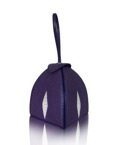 MARIA Stingray Glitter Metallic Clutch Bag, Lapis