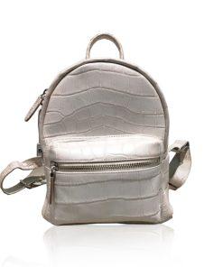 RENNY Crocodile Backpack , Size 21, Matte Himalayan