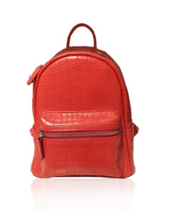 RENNY Crocodile Backpack , Size 21, Matte Red