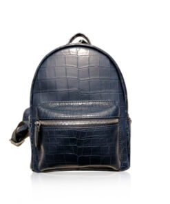RENNY Crocodile Backpack , Size 21, Navy Blue