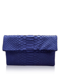 """DAISY"" Python Sling Bag, Matte Royal Blue, Size 20"