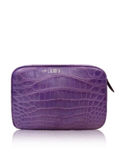 """DORADO"" Crocodile Belly Leather Sling Bag, Matte Light Purple, Size 21"