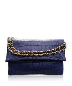 DAISY Crocodile Sling Bag, Matte Royal Blue, Size 23