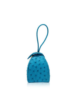 """BABY MARIA"" Turquoise Ostrich Sling Bag, Size 8.5 cm"