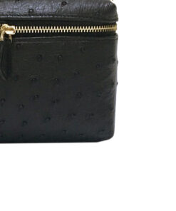 Ostrich Leather Sling Bag SELENA , Black, Size 20