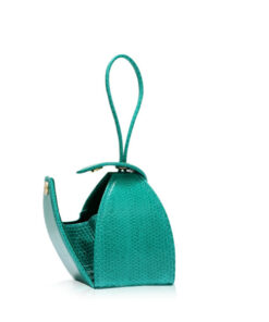 """BABY MARIA"" Light Green Sea Snake Sling Bag, Size 8.5 cm"