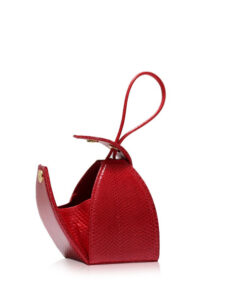 """""""BABY MARIA"""" Red Sea Snake Sling Bag, Size 8.5 cm"""