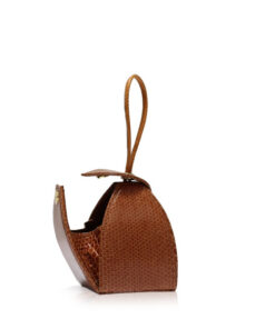 """BABY MARIA"" Tan Sea Snake Sling Bag, Size 8.5 cm"