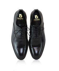 Cap Toe Oxford Black Calf Leather Shoes