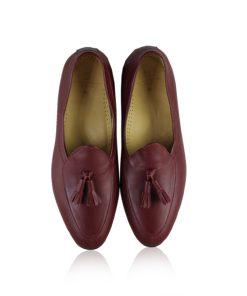 Calf Leather Tassel Dress Shoes, Wine