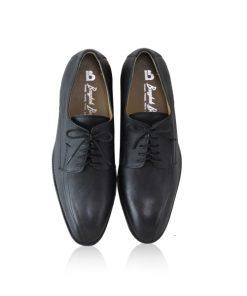 Lamb Leather Dress Shoes, Matte Black