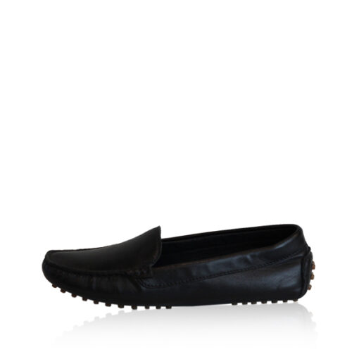 Lamb Leather Casual Women Shoes, Black
