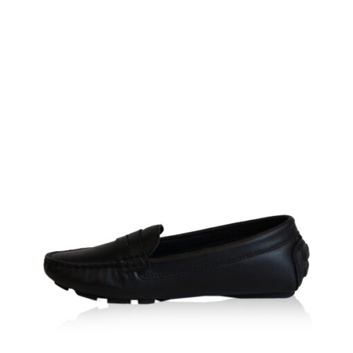 Lamb Leather Loafer Shoes, Black