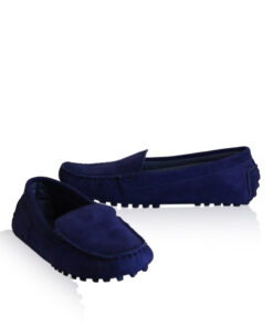 Lamb Suede Leather Casual Women Shoes, Blue