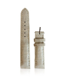 Watch Strap Crocodile Belly Leather, White