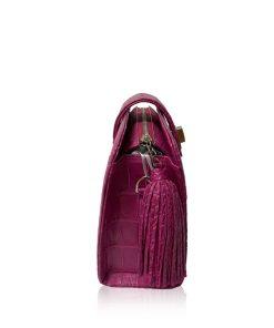 MILDY Matte Hot Pink Crocodile Belly Sling Bag Size 25