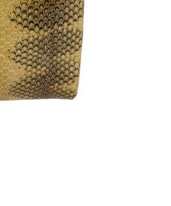 Sea Snake Leather Beige And Black Zipper Coin Purse