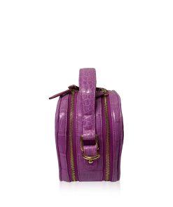 TWO WAY Box Matte Hot Pink Crocodile Belly Handbag Size 18