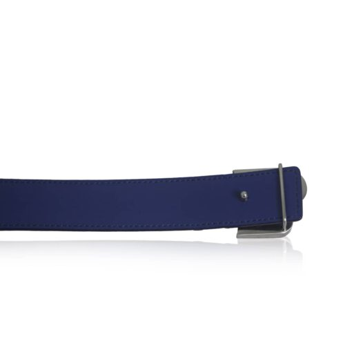 Crocodile Belly Leather Matte Blue Belt Size 2.9