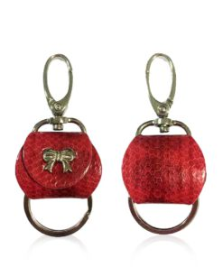 Key Chain Sea Snake Red And Black