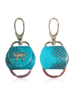 Key Chain Sea Snake Turquoise And Black