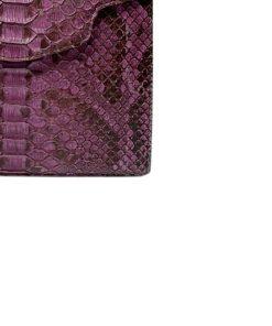 MARYAS Matte Pink Python Belly Leather Handbag Size 21