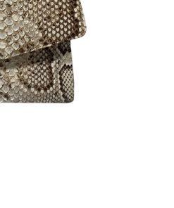 OPLUS Natural Python Molurus Leather Handbag Size 30