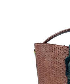 PERMAS Red & Black Python Belly Handbag Size 30