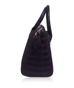 ROCKY Dark Purple Crocodile Hornback Handbag Size 30
